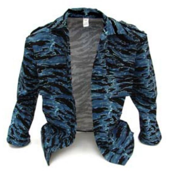 Camisola Comando_Color Tigre azul, Tallas CH-M-G-XG