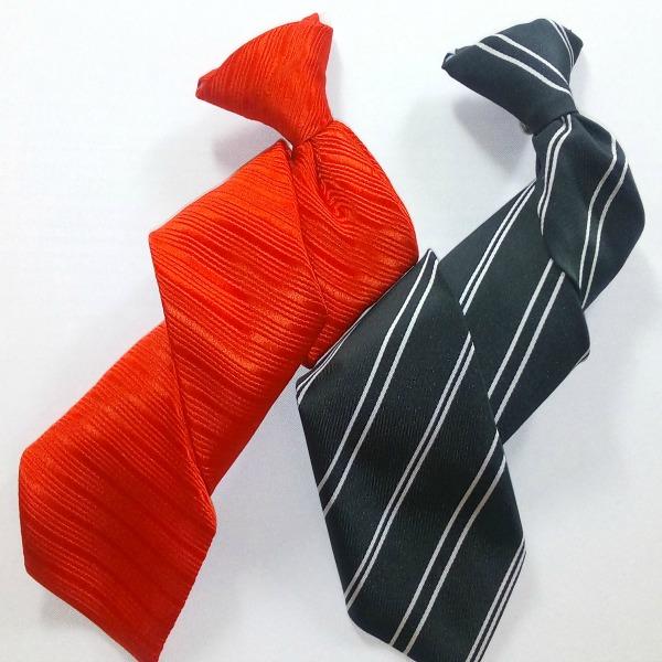 Corbata Infantil con clip metálico_Tejido