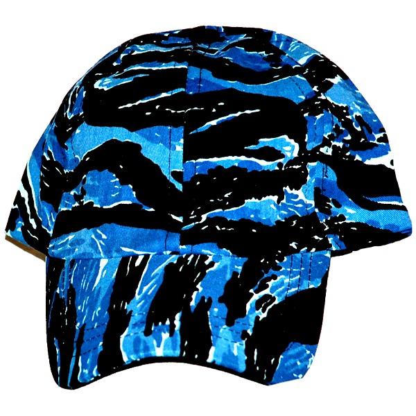 Gorra Camuflaje_Color Tigre azul. Unitalla