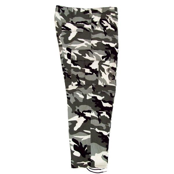 Pantalón comando camuflaje _Color Nieve, Tallas XS-CH-M-G-XG