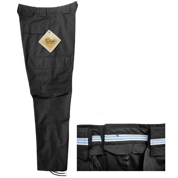 Pantalón comando Ripstop Royal con Teflón Dupont y Resorte_Color Negro, Tallas XS-CH-M-G-XG