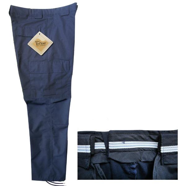 Pantalón comando Ripstop Royal con Teflón Dupont y Resorte_Color Azul, Tallas XS-CH-M-G-XG