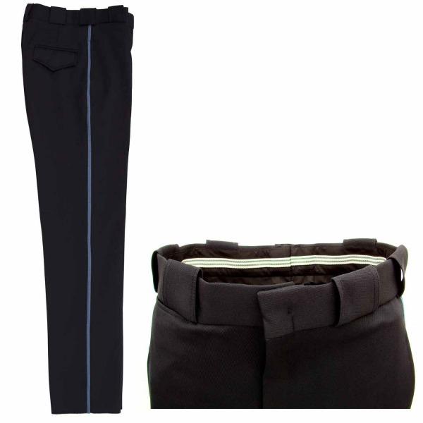 Pantalón de Vestir con Franja o Piola_Color Medianoche con acero, Tallas 28-30-32-34-36-38-40-42-44