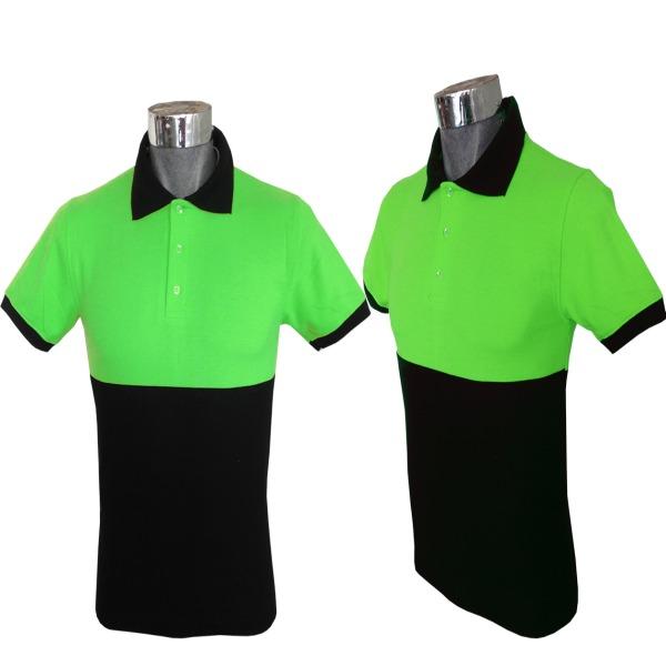 Playera tipo Polo, de Alta Visibilidad_Color Verde. Tallas CH-M-G-XG